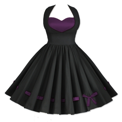 pinup-dress-retro-dress-rockabilly-dress-purple-dress