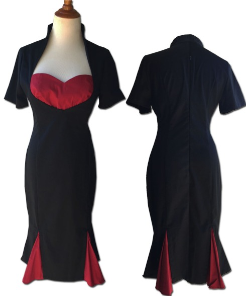 pinup-dress-black-and-red