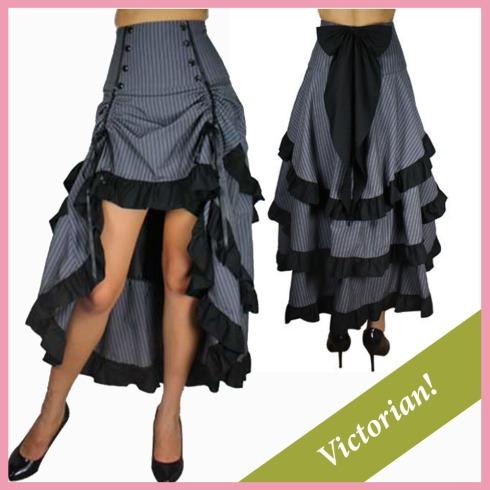 steampunk skirt-gray skirt
